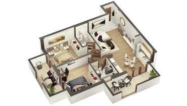Confort LUX – trei camere cu două balcoane