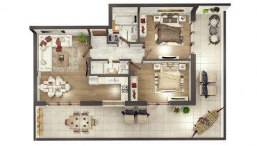 Penthouse LUX – trei camere cu terasă